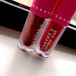 MORPHE X JEFEREE STAR MINI LIQUID LIPSTICK IN RED